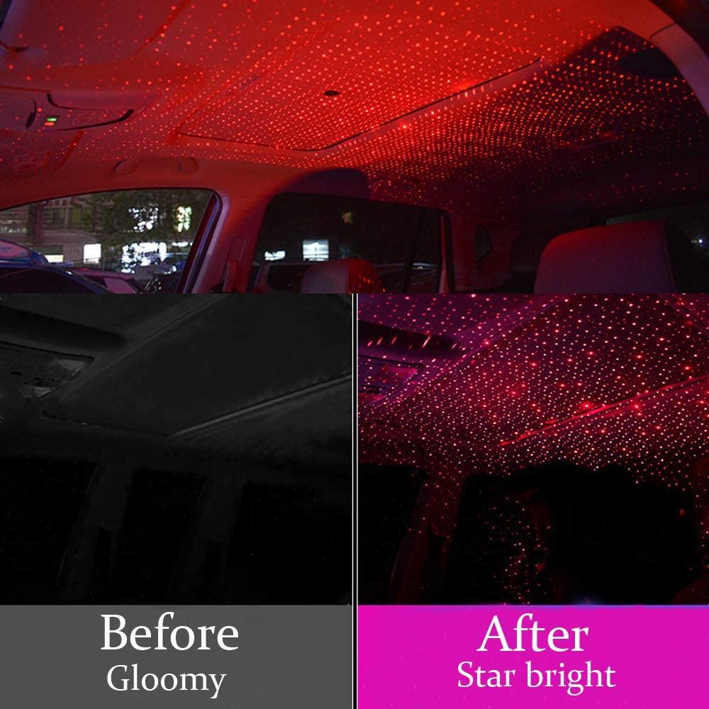 USB Ambient Star Night Lights Mini Usting Flexible USB Night Lamp Fit All Cars Ceiling Roof Atmosphere Auto Room Galaxy Лампа