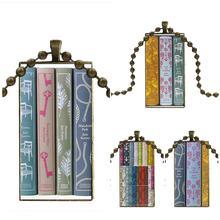 Para las niñas regalo hecho a mano moda cabujón colgante de vidrio collar con dije de rectángulo collar gargantilla joyas Jane Austen libros pingüino