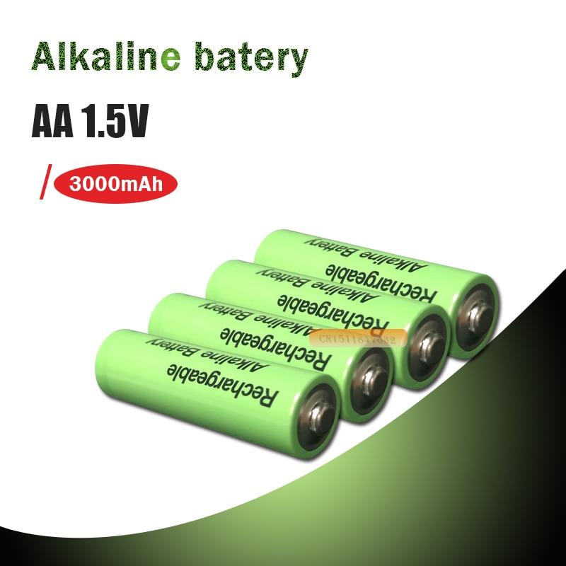 4-20 piezas AA 3000mah Batería alcalina recargable AA 1,5 V 3000mah batería para juguetes luz con Control remoto batería