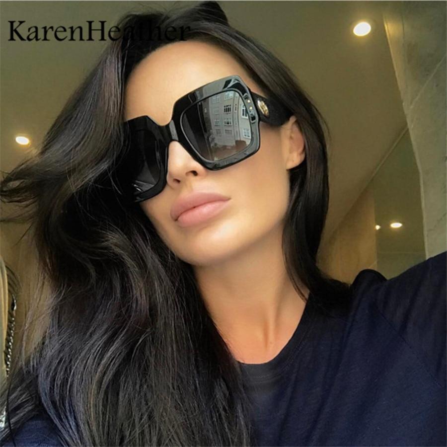 Karenbrezo-gafas De sol cuadradas De lujo para mujer, lentes De gran tamaño...