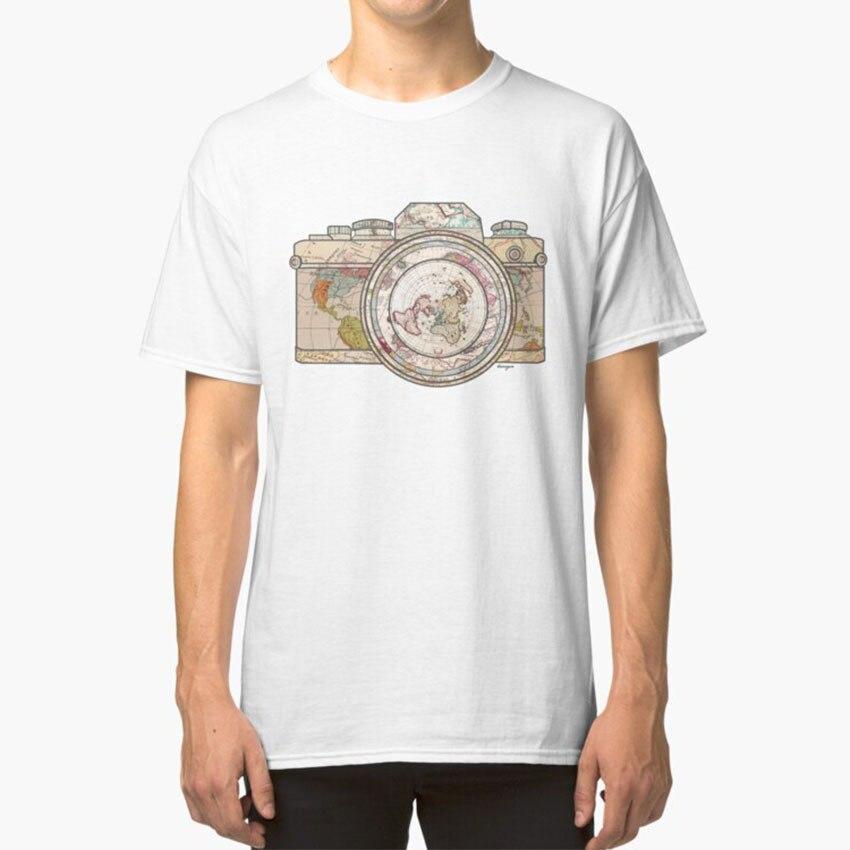 Путешествия футболка Цвет Цветок имбирь узор текстура Винтаж обои камера Графический дизайн