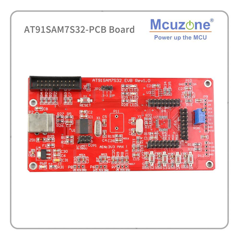 AT91SAM7S32-PCB ARM7 SAMS764 7S32 USART... DBGU SPI... 8CH 10bit ADC USB JTAG ATMEL MICROCHIP AT91SAM7S32-EK