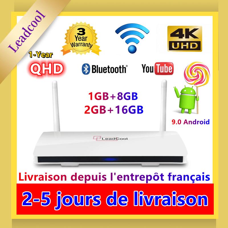 Leadcool QHDTV أندرويد 9.0 مربع التلفزيون الذكية 4K H.265 مشغل الوسائط Amlogic S905W رباعية النواة 2.4G واي فاي QHD صندوق التلفزيون Leadcool فك التشفير