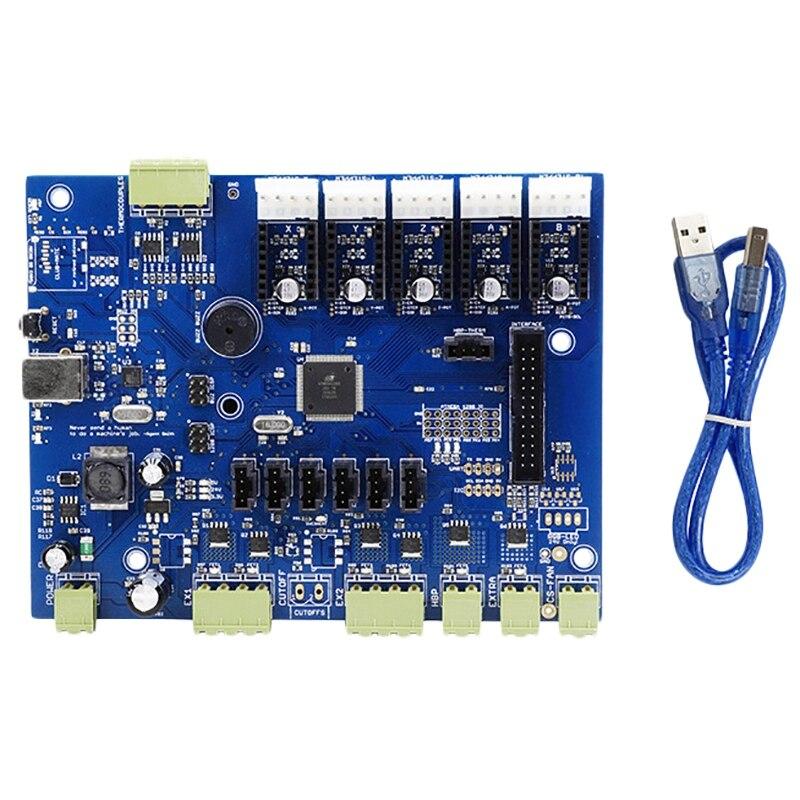 Replicador g placa poderosa com ic Atmega1280-16Au + cabo para makerbot impressora 3d 8 dja99