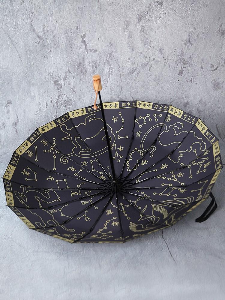 Automatic Folding Umbrella Sunscreen UV Protection Chinese Style Gossip Umbrella Men Windproof Van Gogh Birthday Present AG50ZS enlarge