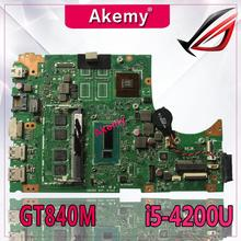 Akemy S451LN carte mère dordinateur portable pour For Asus pour For Asus S451 S451L V451 V451L S451LN S451LB Test carte mère dorigine I5-4200U GT840M