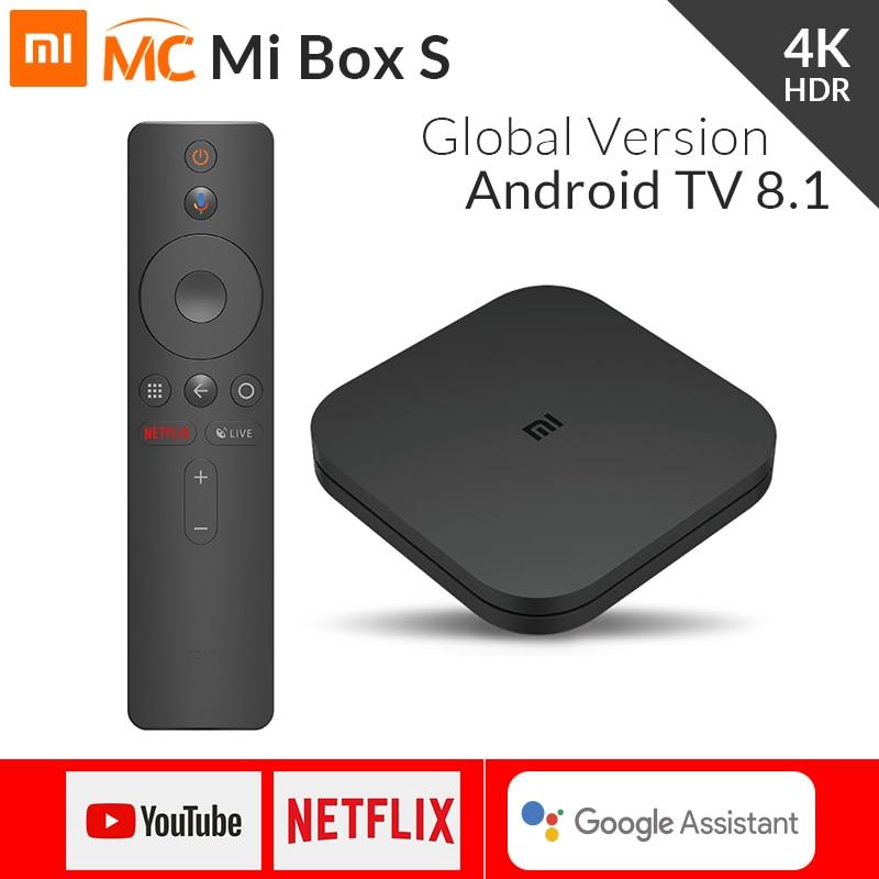 Глобальная версия Xiaomi Mi ТВ коробка S Smart 4K со сверхвысоким разрешением Ultra HD, 2G 8G Android 8,1 Wi Fi Google Cast Netflix Media Player IPTV Set Top Box 4 on AliExpress - 11.11_Double 11_Singles' Day
