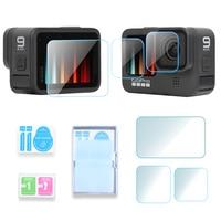 Защитная пленка из закаленного стекла Экран протектор для экшн-камеры Gopro Hero 9 Черный Спорт Защита для экрана камеры пленка закаленное стекл...