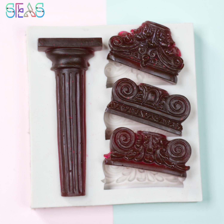 Бесплатная доставка, силиконовые формы, римская колонна для выпечки, кондитерские инструменты, аксессуары, силиконовые формы для конфет, фо...