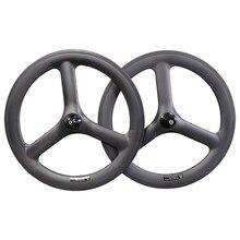 Ein paar 20 zoll klapp Fahrrad V brems Rad 25mm 451 Carbon tri speichen laufradsatz für faltrad