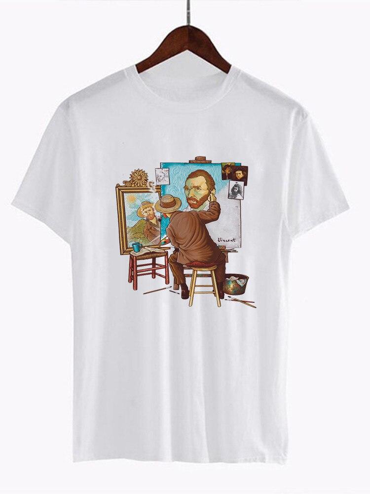 Van Gogh Van Goghing Van ido Meme divertido camiseta Unisex moda lindo impresa Tee