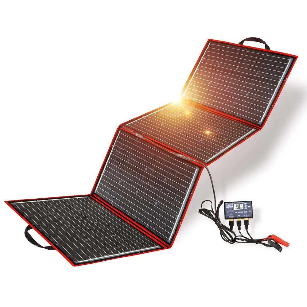 Dokio 200W (50W*4) Solar Panel 12V/18V Flexible Foldble usb Portable Cell Kit For Boats/Out-door Camping
