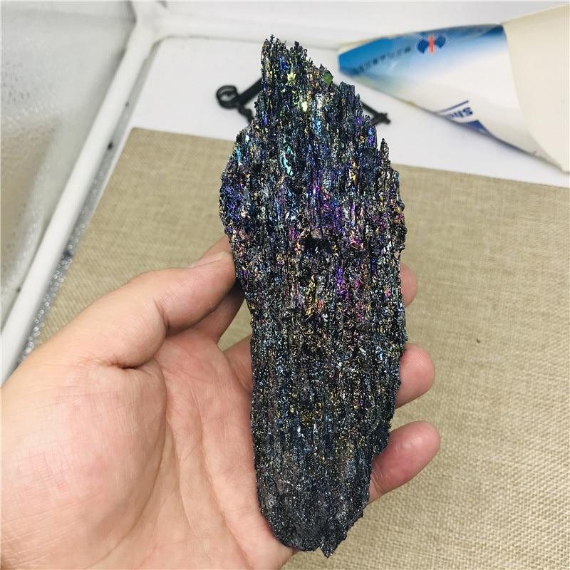 Impresionante espécimen Mineral de carburo de silicio carborundo arcoíris áspero de 100-200g