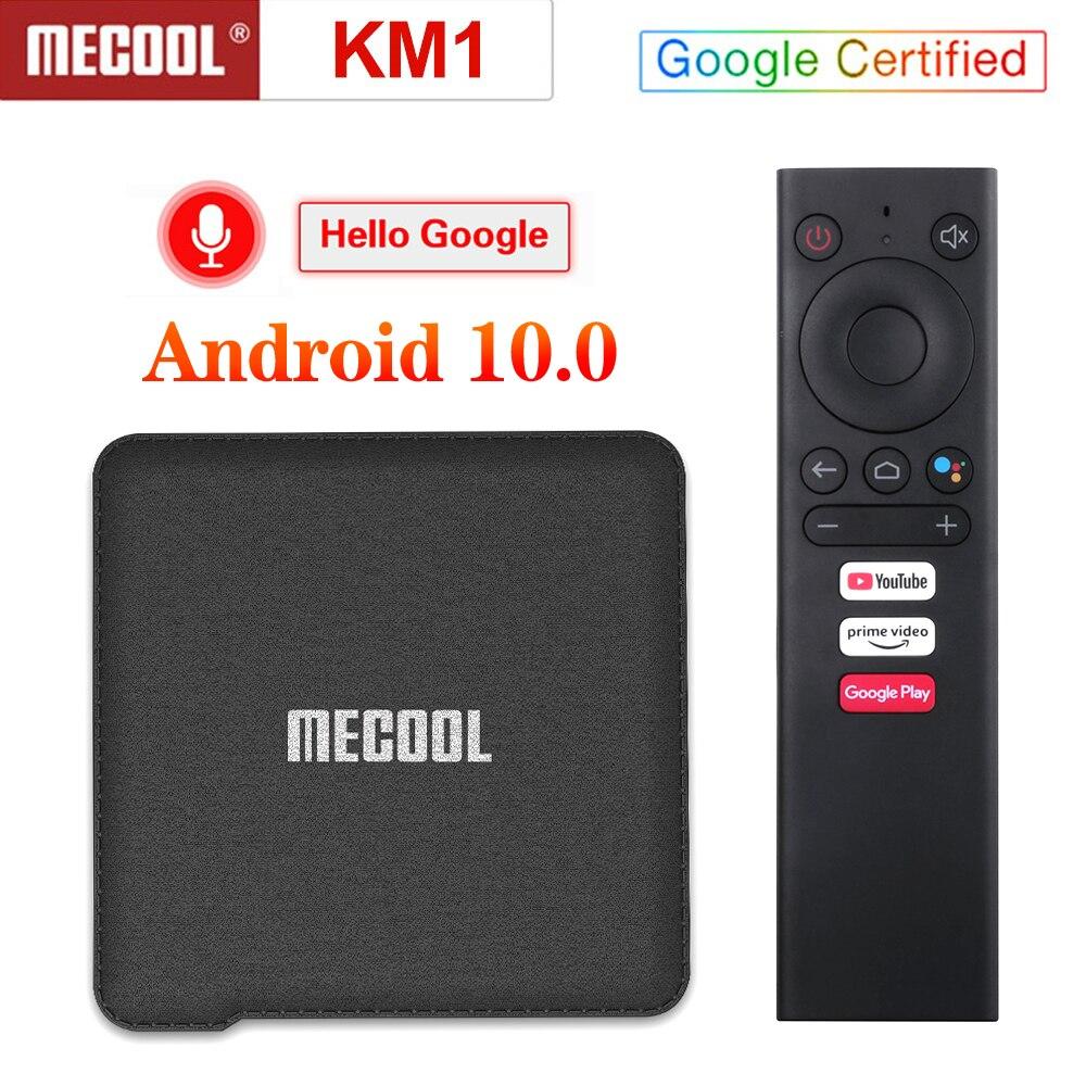 Mecool-TV Box KM1 ATV ، Android 2020 ، 4GB/64GB ، Amlogic S905X3 ، 4K Dual Wifi ، صندوق فك التشفير ، معتمد من Google ، 10.0