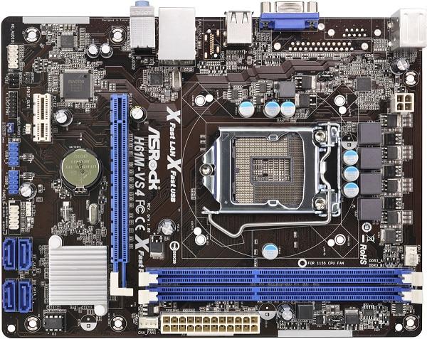 Used, 100% original motherboard for ASRock H61M-VS4 LGA 1155 DDR3 RAM 16G Integrated graphics Motherboard