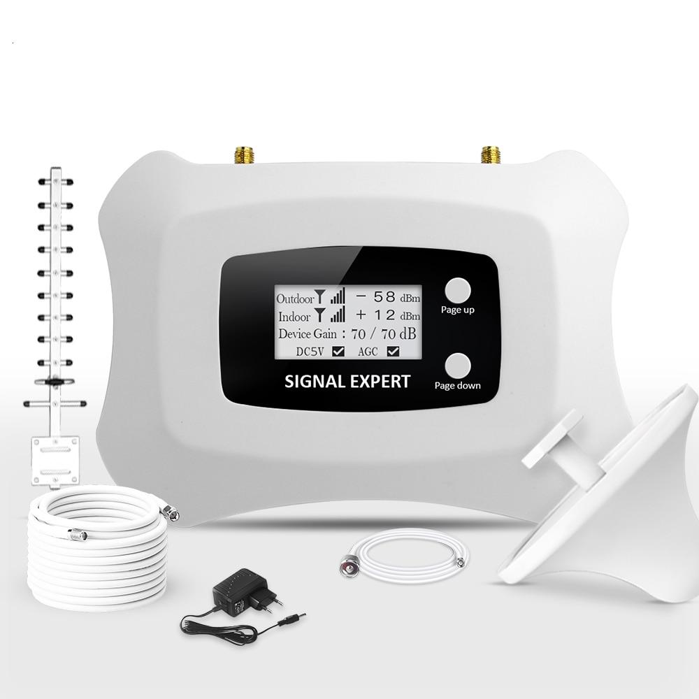 Venta al por mayor de fábrica Atnj, amplificador de señal móvil de 1800 mhz, repetidor de teléfono móvil con pantalla Lcd, terminal inalámbrico fijo