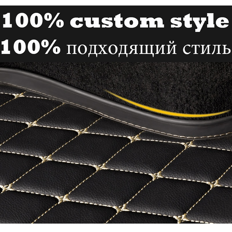 PU Leather Car Trunk Mat for HYUNDAI i30 i40 Tucson Solaris Sonata Creta Encino Elantra ix25 ix35 Kona Car Accessories enlarge