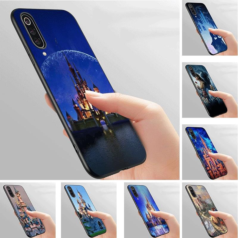 Phone Case Soft black For Xiaomi Redmi K30 Poco X2 4 4A 4X 5 5A 6 7 Go 6A S2 K20 Pro Prime Plus Cover Disney Castle