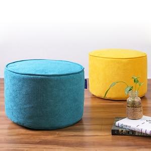 Sofa footrest bean bags sofas Nordic Vintage Household Footstool Ottoman Circular Bench Kid Chair Living Room Small Tea Table