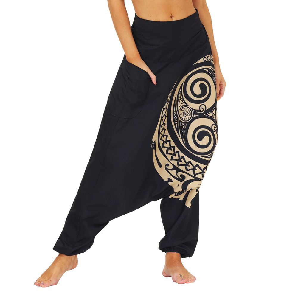 Drop Bottom Elastic Waist Loose Fit Baggy Gypsy Hippie Boho Aladdin Yoga Harem Pants for Women and Men