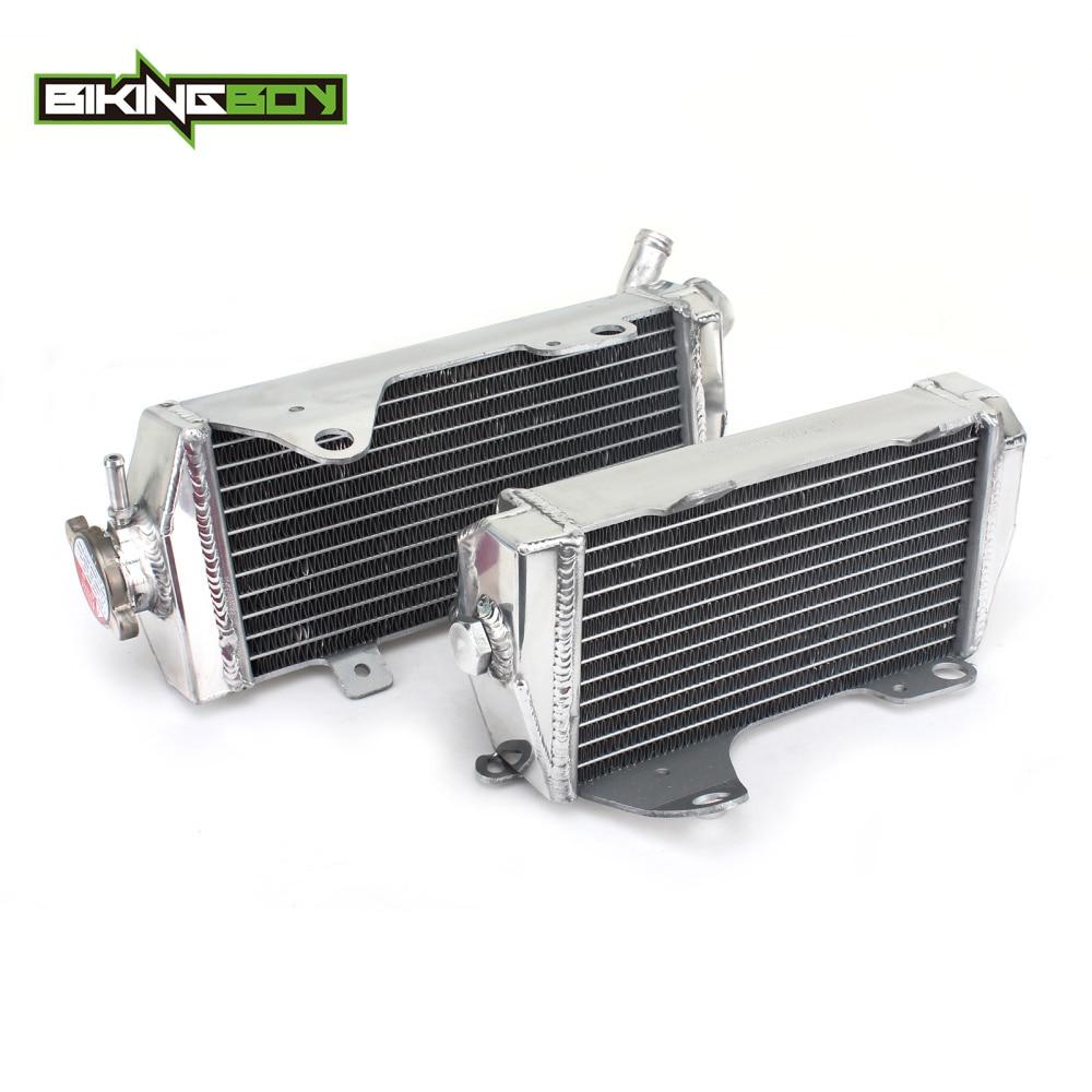 BIKINGBOY para Honda CRF 450 R 2013 2014 CRF450R 13 14 MX Offroad motor de aluminio refrigeración por agua radiadores conjuntos