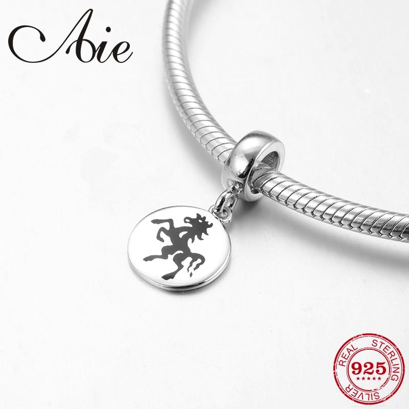 Hermosos colgantes de plata de ley 925 con 12 caballos del zodiaco chino, cuentas aptas para pulseras originales Pandora, fabricación de joyas