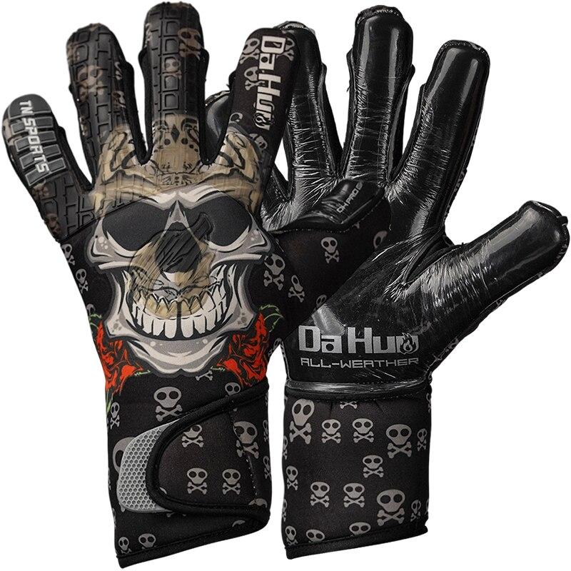 High Quality Natural Latex Football Goalkeeper Gloves Professional Goalkeeper Gloves Black Child Adult Football Goalkeeper Glove