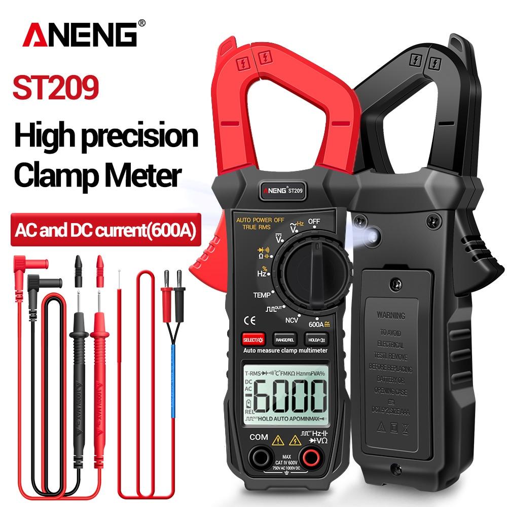 ANENG ST209 мультиметр цифровой токовые клещи 6000 отсчетов True RMS Amp DC/AC клещи токоизмерительные kaws клещи мультиметр токовые тестер постоянного ток...