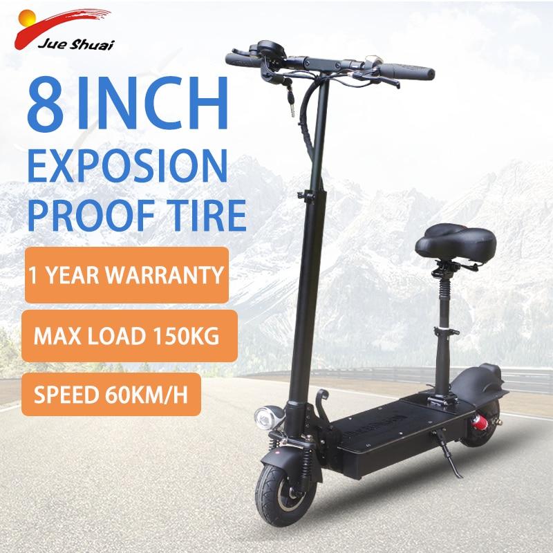 Patinete eléctrico con asiento para adultos, scooter eléctrico de dos ruedas, resistente...