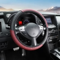 car steering wheel cover four seasons universal wear resistant imitation leather fashion color rhyme steering wheel cover