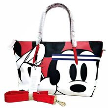 Designer Brand Crocodile Mickey Cartoon Print Fashion Women's Tote Shoulder Hand Bag Large Casual Tr