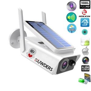 Solar WiFi IP Camera 1080P HD Outdoor Charging Battery Wireless Security Camera PIR Motion Detection Bullet Surveillance CCTV