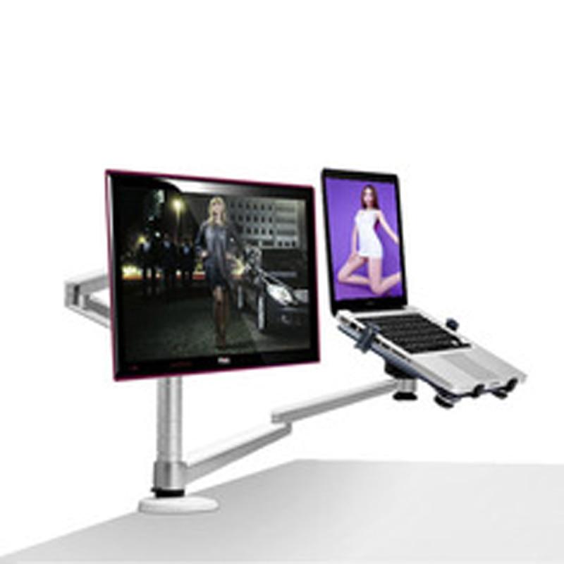 الألومنيوم OA-7X الوسائط المتعددة رصد سطح المكتب جبل LCD مكتب حامل طاولة كمبيوتر محمول حامل حامل الحركة الكاملة تدوير دفتر 10-15