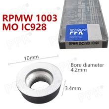 10PCS Carbide insert RPMW 1003  MO IC928 milling turning tool RPMW 1003  MO IC928 lathe tool milling cutter CNC tool lathe tool