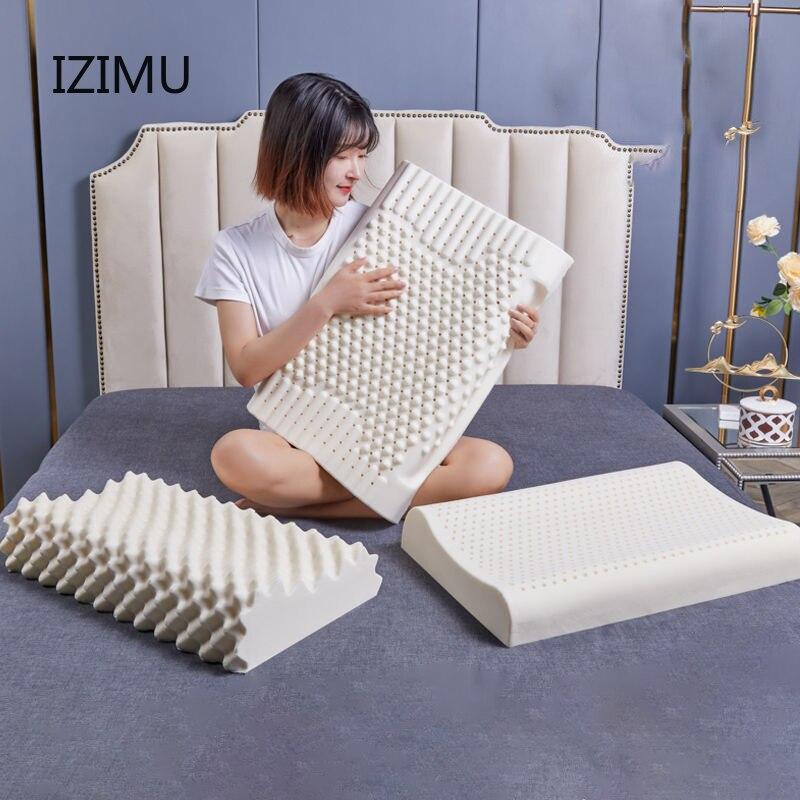 IZIMU الذاكرة سرير إسفنجي وسادة العظام ل آلام الرقبة النوم مع المخدة 60*40 سنتيمتر الوسائد للنوم وسادة العظام