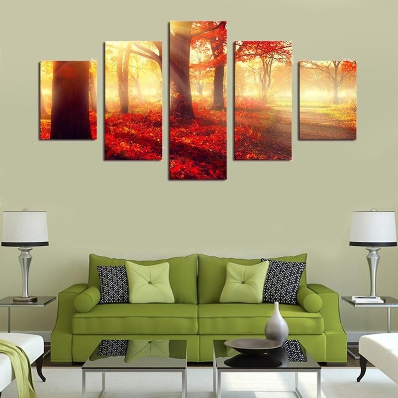 Imágenes modulares de Dropship arte de pared HD impresiones 5 piezas manglares cuadros de pared para Living lienzo de pared