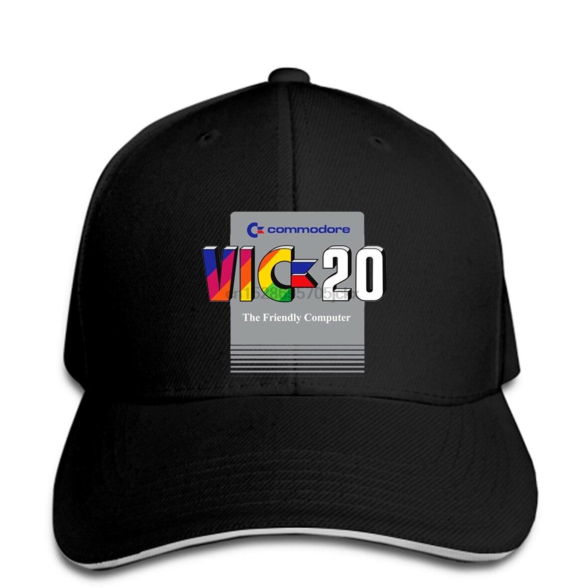 Commodore Vic 20 64 piezas de ordenador Personal Retro juego de videojuegos G200 Gi Harajuku clásico único gorra de béisbol sombrero de pico