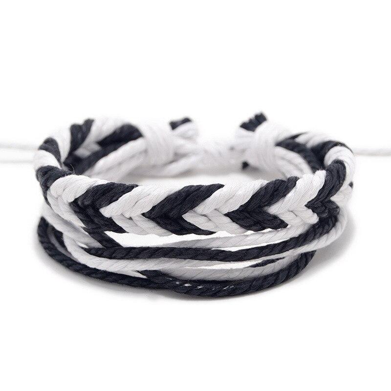 14 Style New Handmade Woven Rope Bracelet Set Women Multilayer Braided Charm Bracelet Men Jewelry Gift