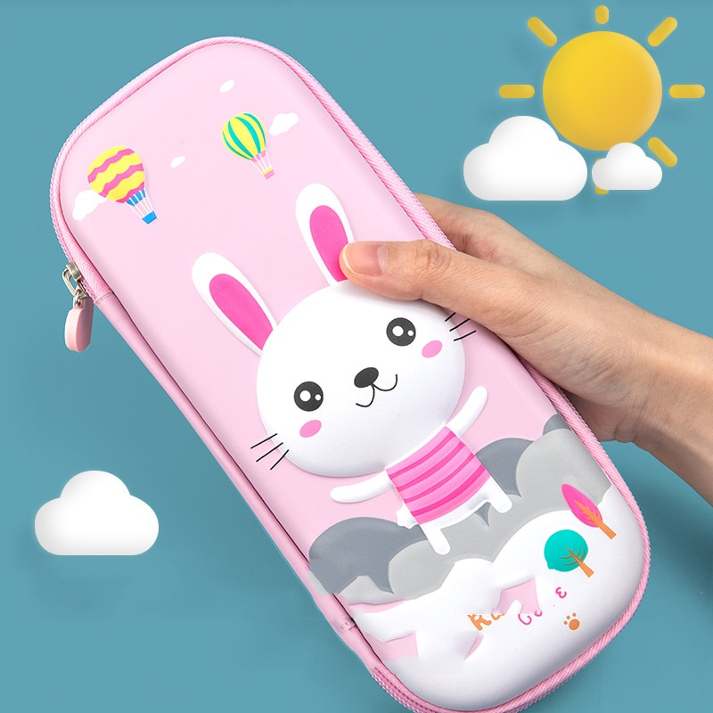 Cute Rabbit Pencil Case High Quanty Pencil Case for Office Kawaii Pen Bags for grils Pencil Cases Ae