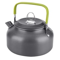 outdoor aluminum alloy kettle portable camping boil water pot coffee tableware cookware for hiking cooking camping equipment