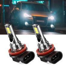 2 pièces H11 H8 ampoule Led feux de brouillard de voiture pour Land Rover Range Rover Sport Discovery 4 Evogue LR4 XE XFL Et Jaguar