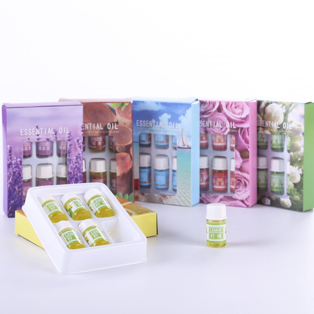 6 pcs/set plant Essential oil for Diffuser Aromatherapy 100% Pure Natural Essential Oils Skin Care B