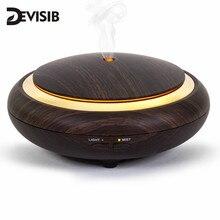 DEVISIB UFO diffuseur dhuile essentielle Grain de bois 150ml arôme ultrasonique brume fraîche humidificateur pour bureau chambre bébé chambre étude Yoga