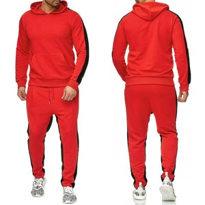 2021 new men's hot sale new fashion spring and autumn comfortable sports men's T-shirt suit hoodie + two-piece pant