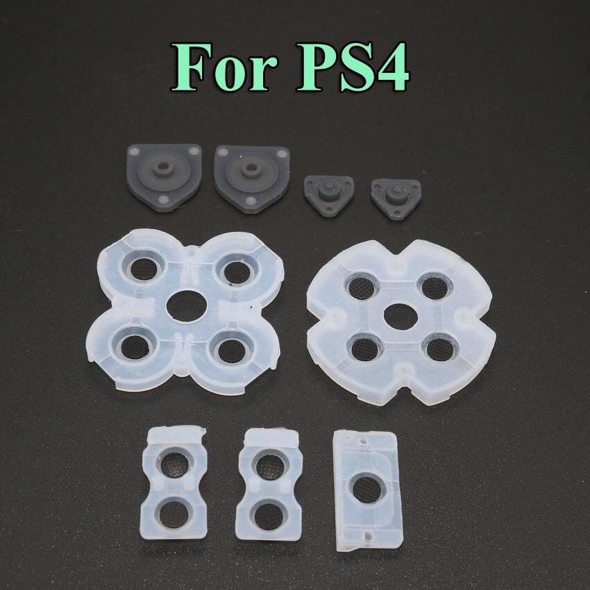 2 компл./лот силиконовая Кнопка колодки кремния резиновый проводящий колодки для PS4 контроллер запчасти для ремонта
