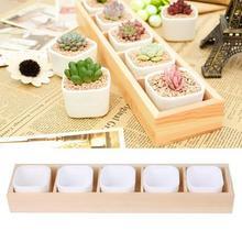 Maceta cuadrada decorativa para plantas suculentas, jardín, caja de 2 orificios, contenedor, macetas y macetas para flores