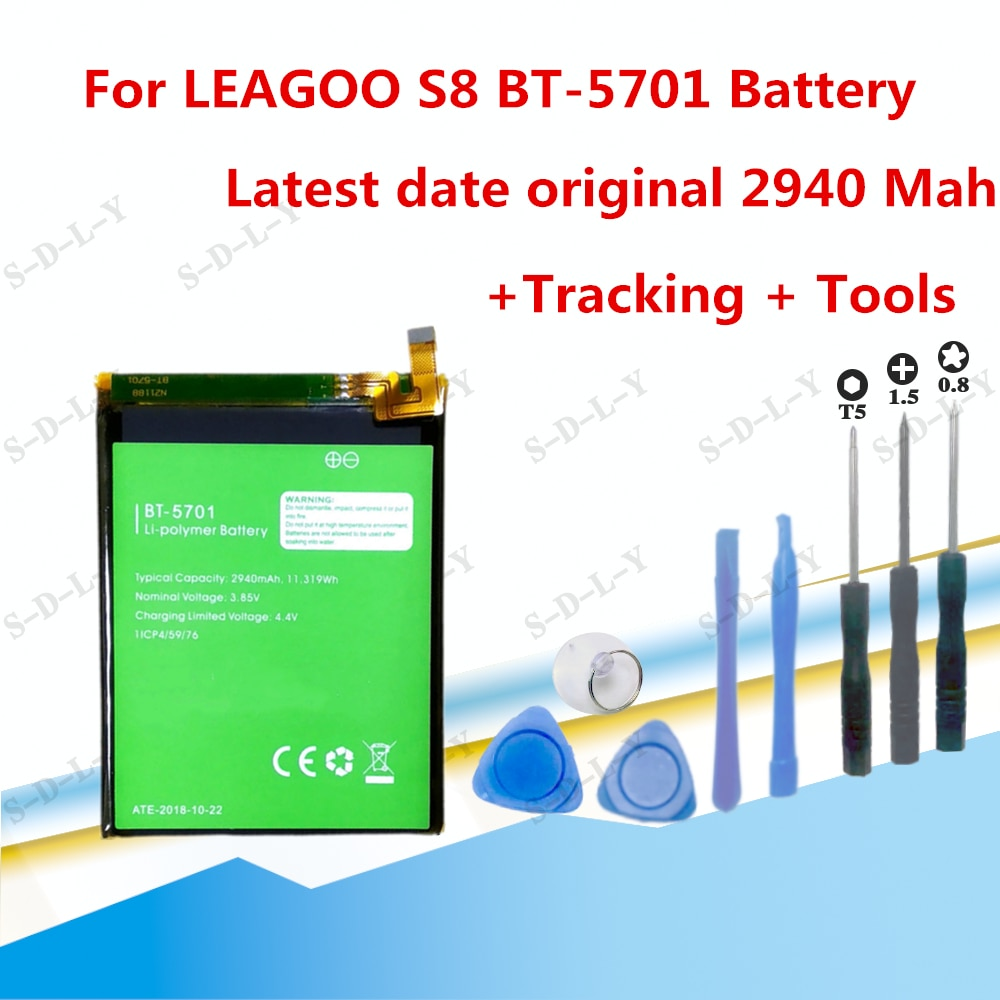 100% Original Backup Leagoo S8 Battery 2940mAh For Leagoo S8 Smart Mobile Phone + + Tracking Number enlarge