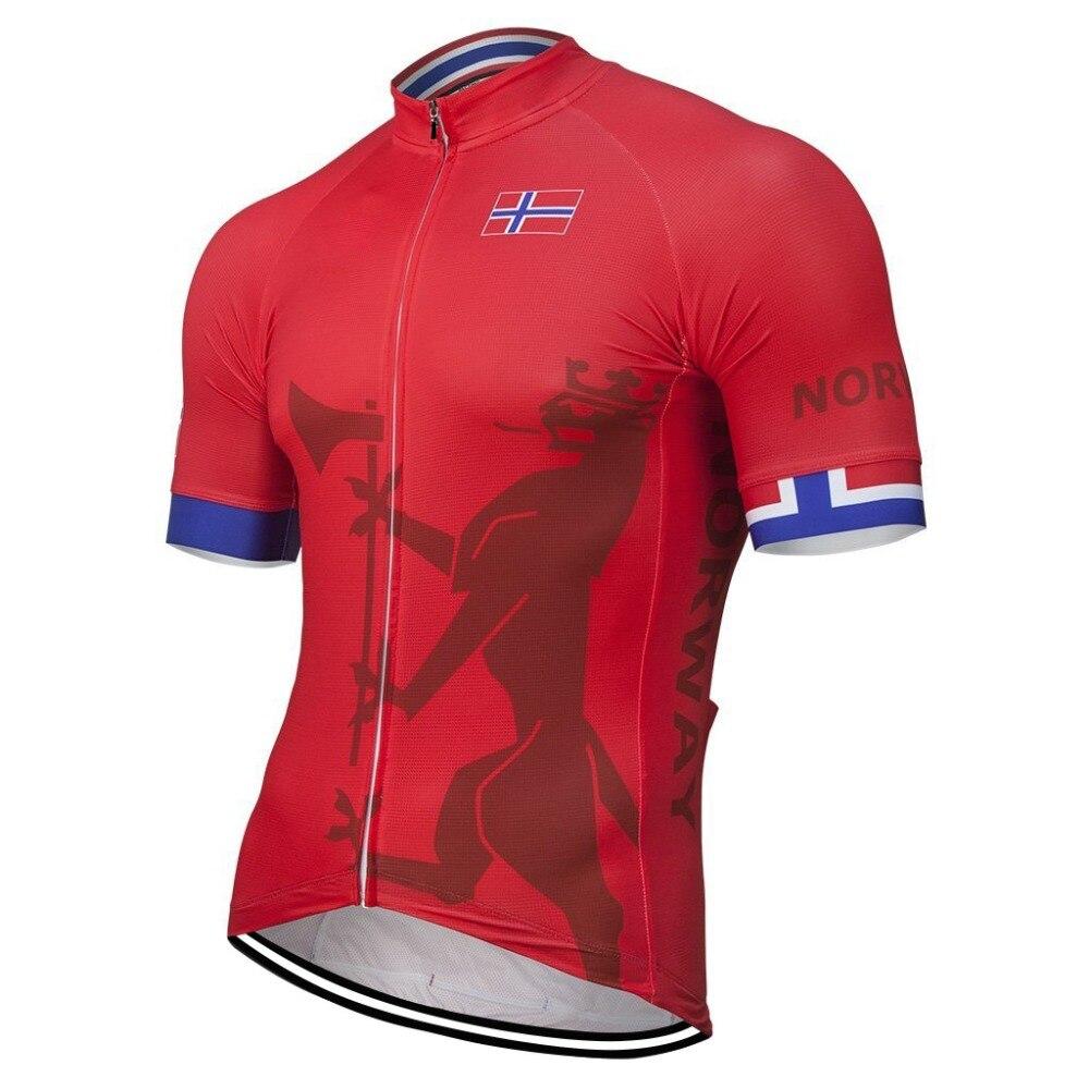 Noruega 2020 equipo nuevo verano camiseta de ciclismo rojo bicicleta ropa para ciclismo bicicleta carretera carrera Tops