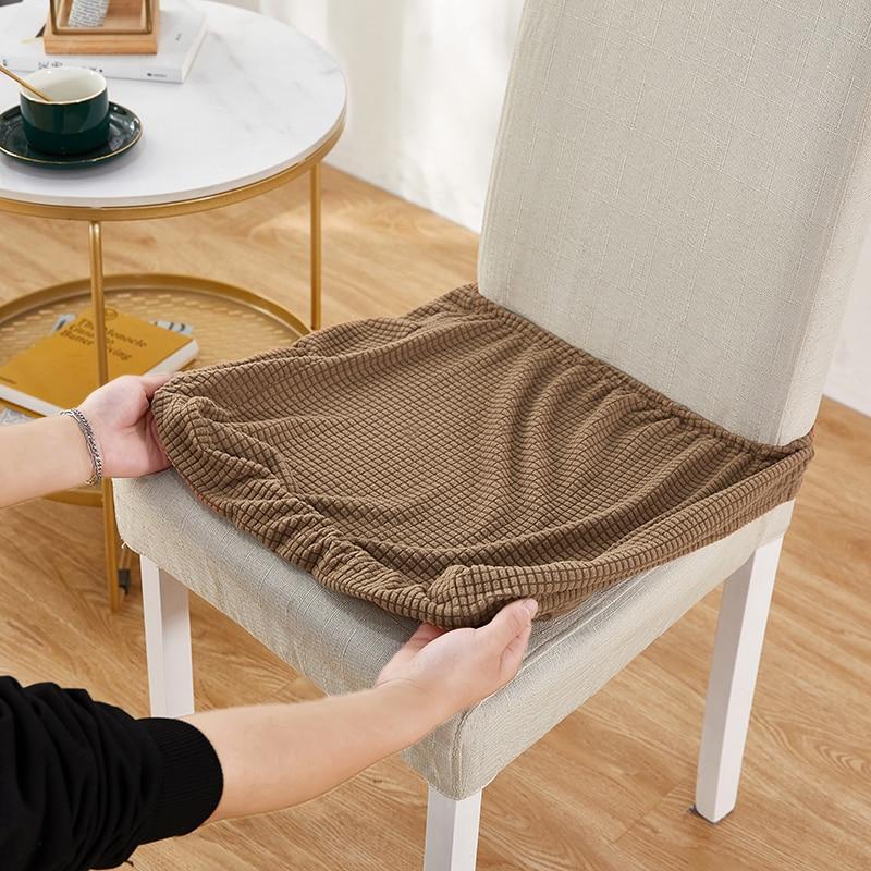 Жаккардовые эластичные чехлы для сидений, универсальные съемные накидки для сидений в столовую, защита от грязи, моющиеся