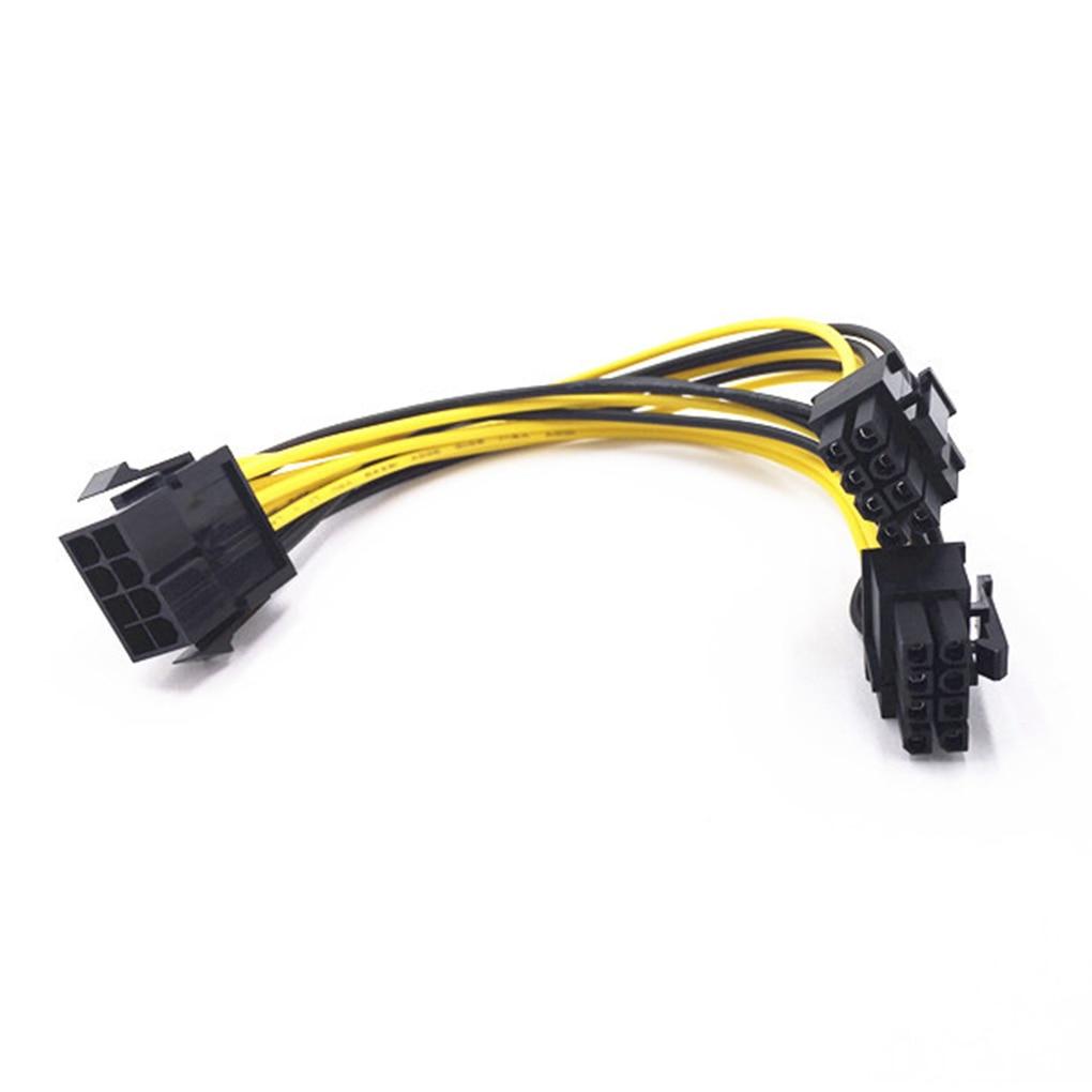 1pcs 6 pin pci e to 8 pin 6 2 pci e power cable 50cm length for graphic cards gpu PCI Express power converter cable 8 pin to double 8 (6 + 2) pin, for graphics card GPU PCIE PCI-E VGA splitter power cord